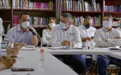 Trabajos de recuperación de suelos anuncia la CRQ en la cancha de fútbol de Buenavista.