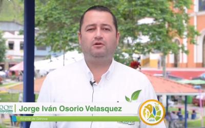 El alcalde de Génova, Jorge Iván Osorio Velasquez…