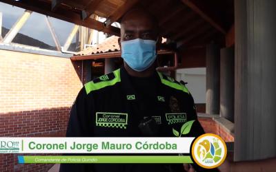 El coronel Jorge Mauro Córdoba, comandante de la Policía del Quindío…